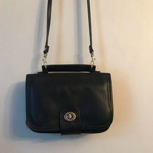 Vintage Black Turnlock Crossbody Bag